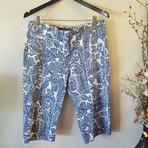 Counterparts Paisley Capris Pants Design Size 10